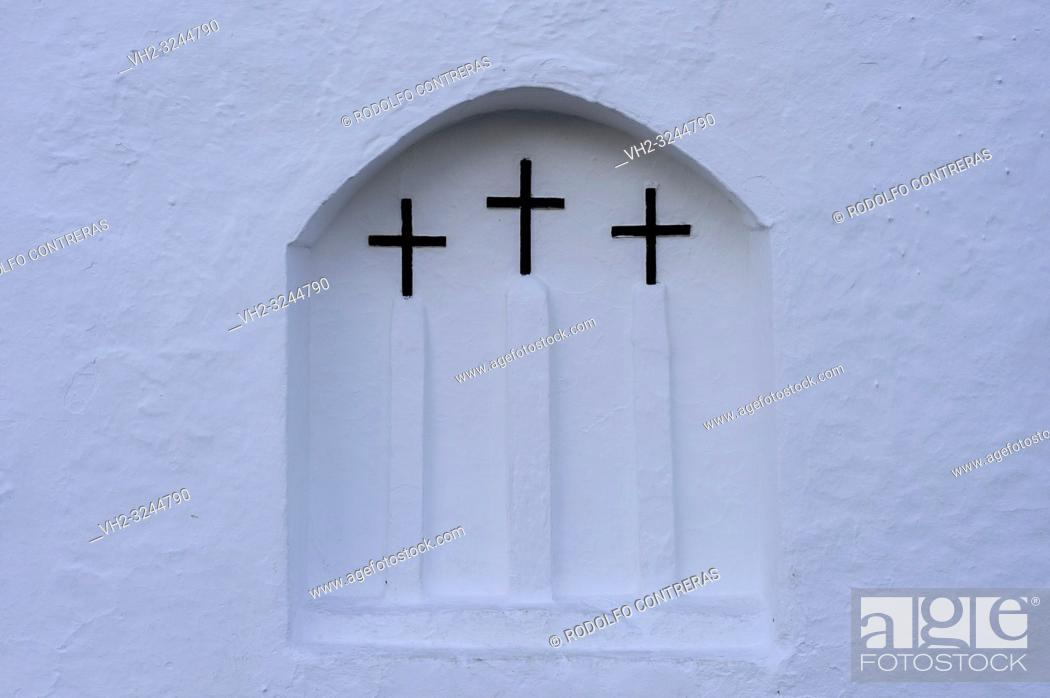 Stock Photo: Traditional and unique church in Ibiza.