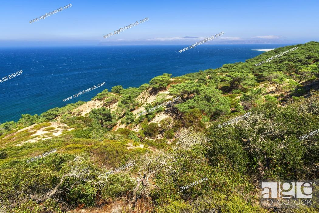 Stock Photo: Skunk Point from the Torrey Pines Trail, Santa Rosa Island, Channel Islands National Park, California USA.
