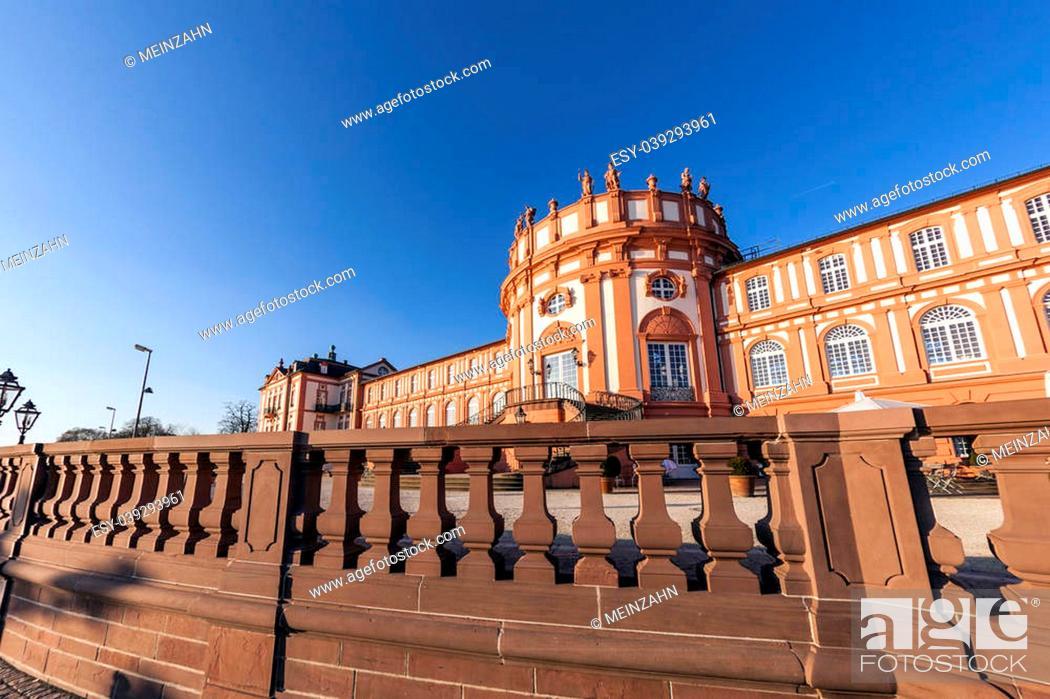 Stock Photo: famous Biebrich Castle in Wiesbaden.