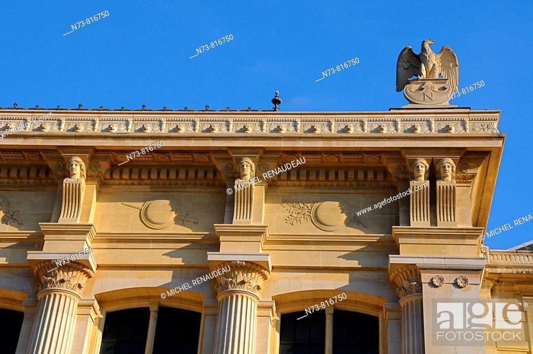 Stock Photo: Architectural detail, Palais de Justice, Île de la Cité, Paris, France.