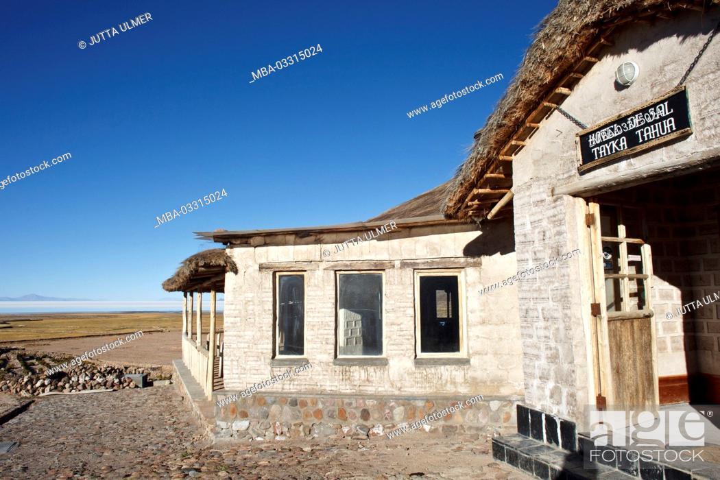 Bolivia Salar De Uyuni Tahua Tayka Hotel De Sal Stock
