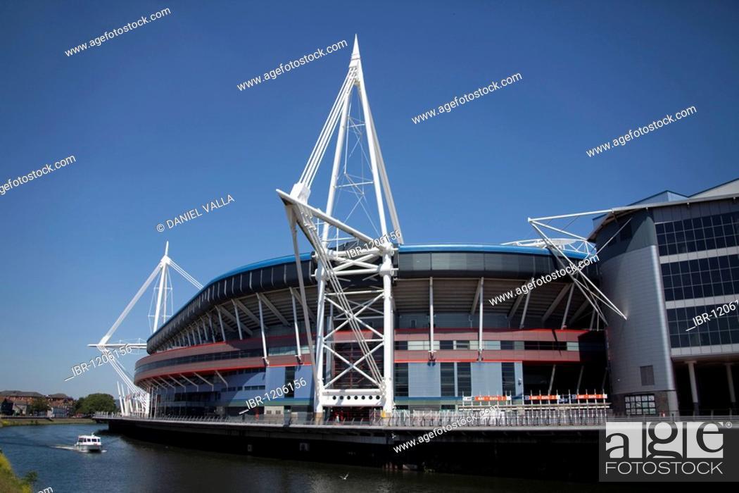 Stock Photo: Millennium Stadium sports centre, Cardiff, Wales, United Kingdom, Europe.