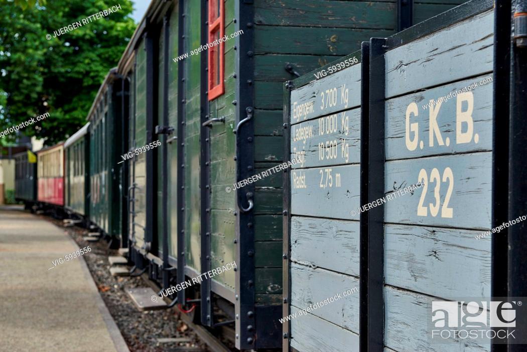 Stock Photo: GERMANY, GANGELT, 08.07.2017, Selfkantbahn, Historical narrow-gauge railway, Schierwaldenrath, Heinsberg, North Rhine-Westphalia, Germany - Gangelt, Germany.
