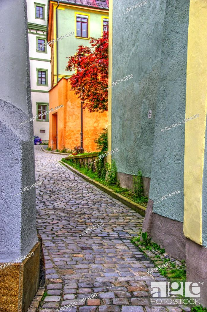 Stock Photo: Passau alley, Germany.