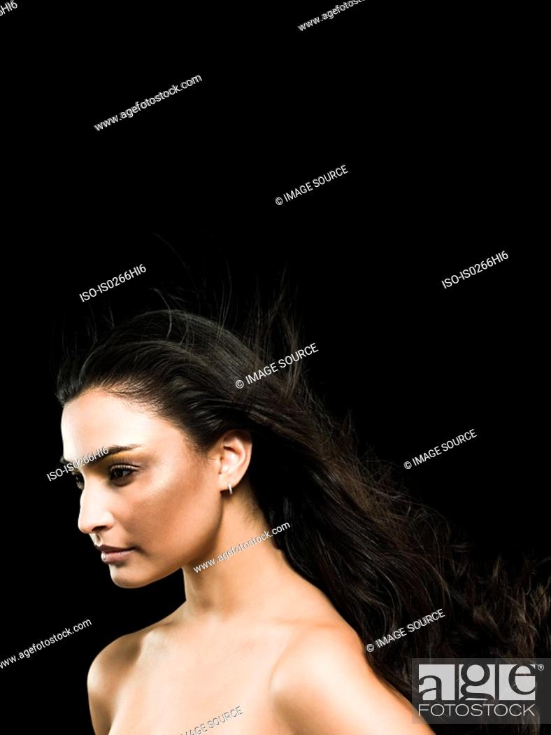 Stock Photo: A young woman.