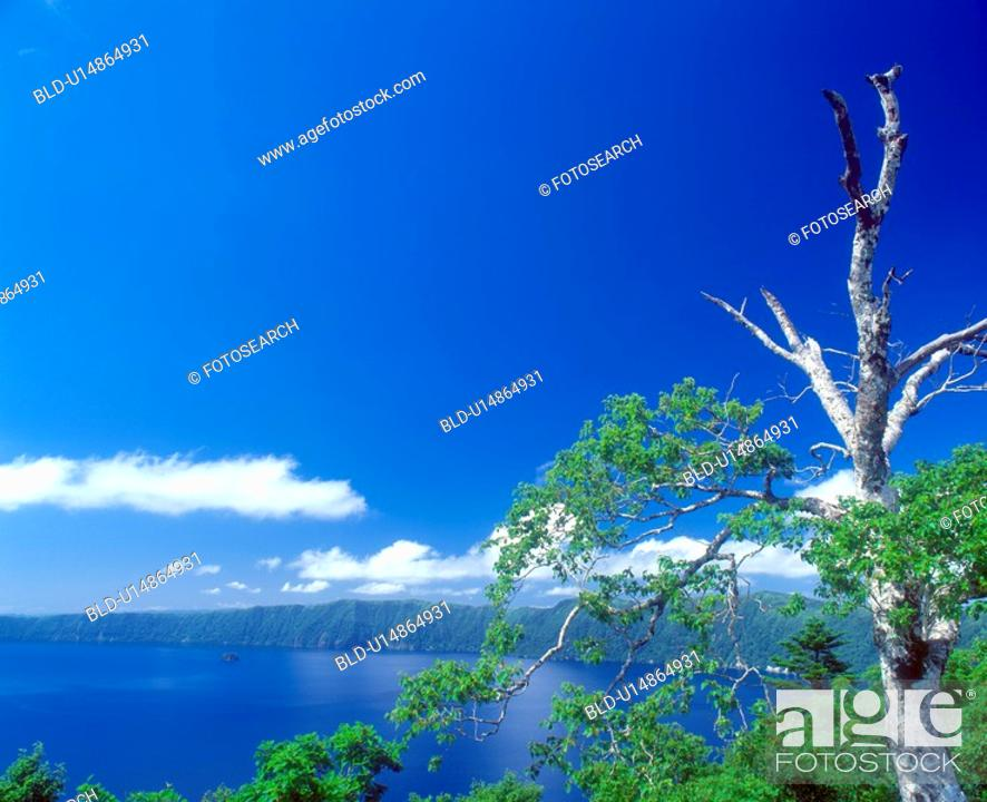 Stock Photo: Lake and blue sky(Mashu lake).