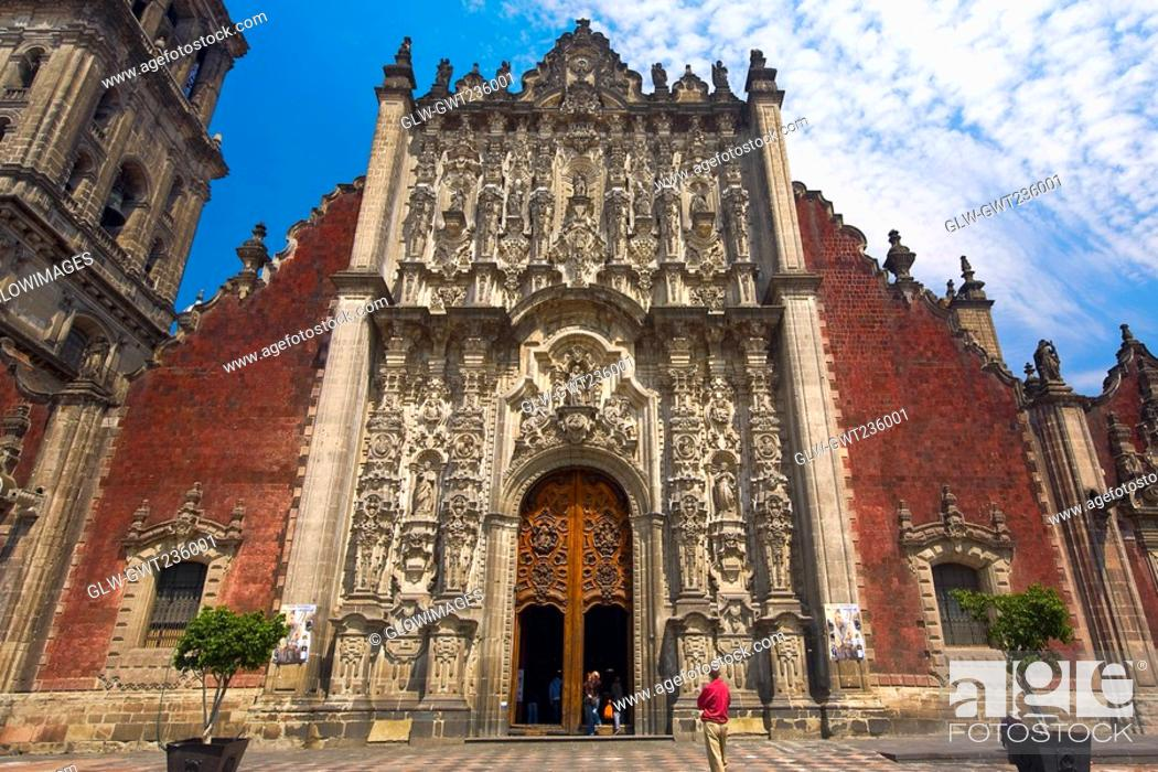 Stock Photo: Low angle view of a cathedral, Metropolitan Cathedral, Mexico City, Mexico.