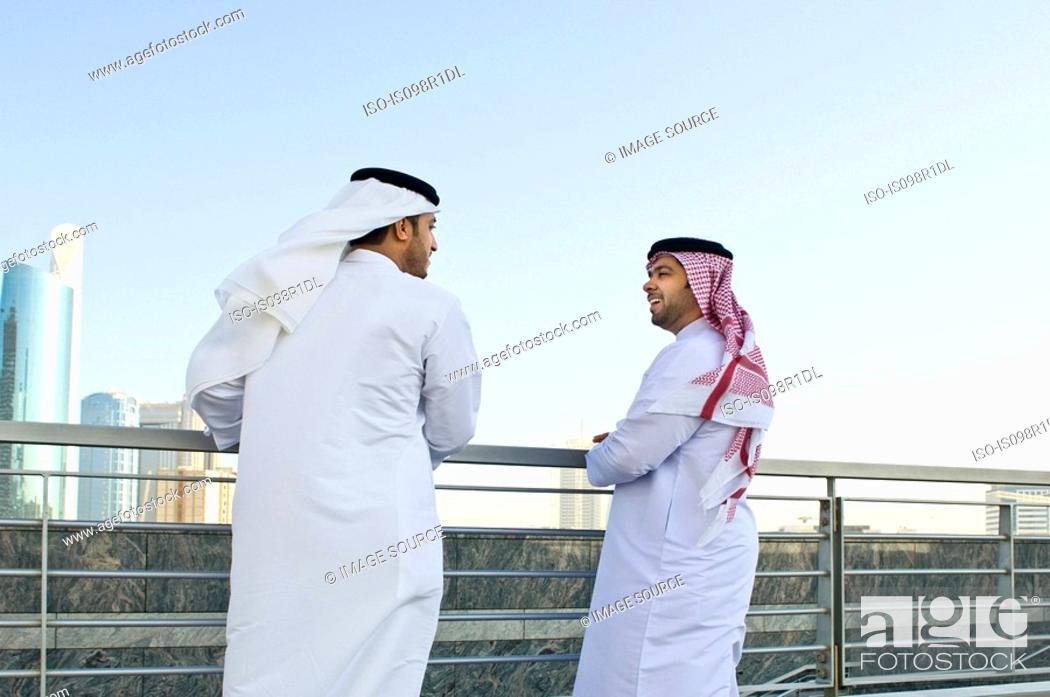 Stock Photo: Businessmen talking.