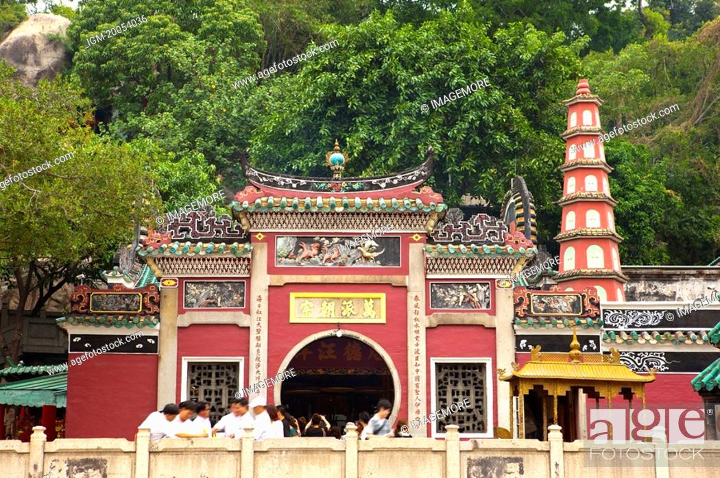Stock Photo: China, Macou, A-Ma Temple, UNESCO, World Cultural Heritage.