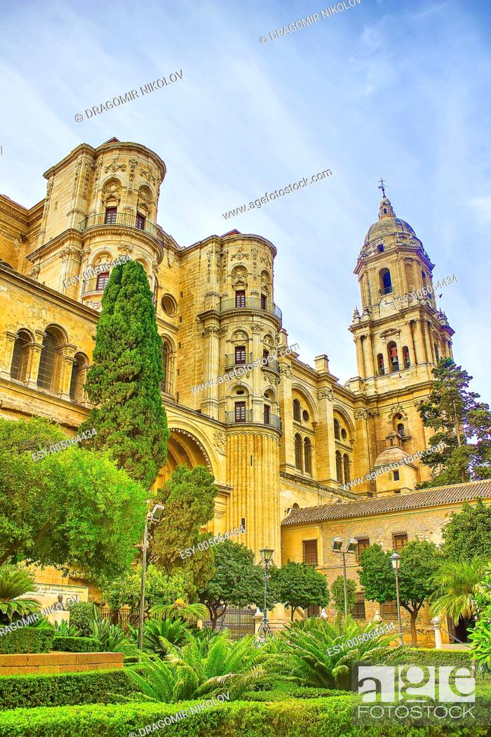 Stock Photo: Malaga Cathedral in Andalusia.