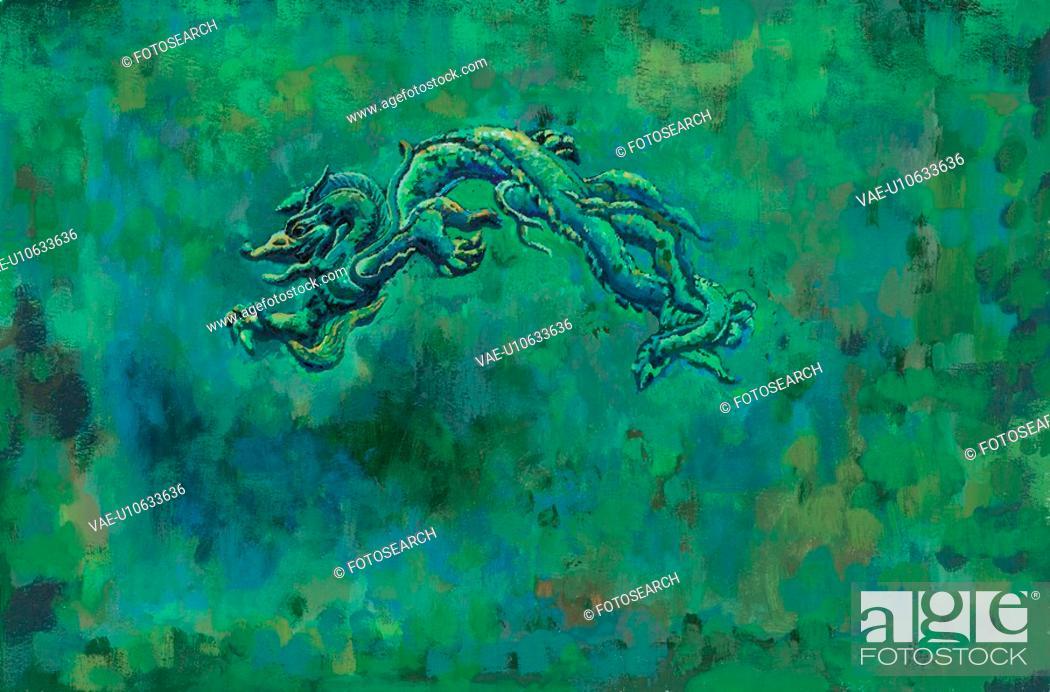 Stock Photo: mythical, dragon, myth, tradition, painting, mythology, animal.