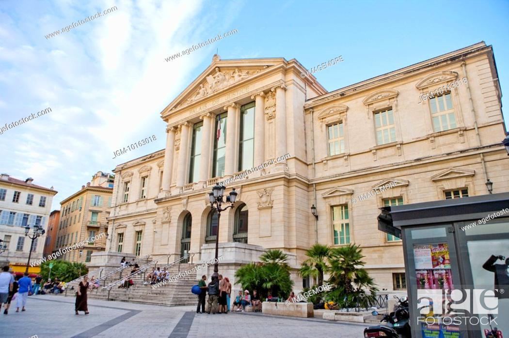 Stock Photo: Palais De Justice, Nice, Provence-Alpes-Cote d'Azur, France, Europe.