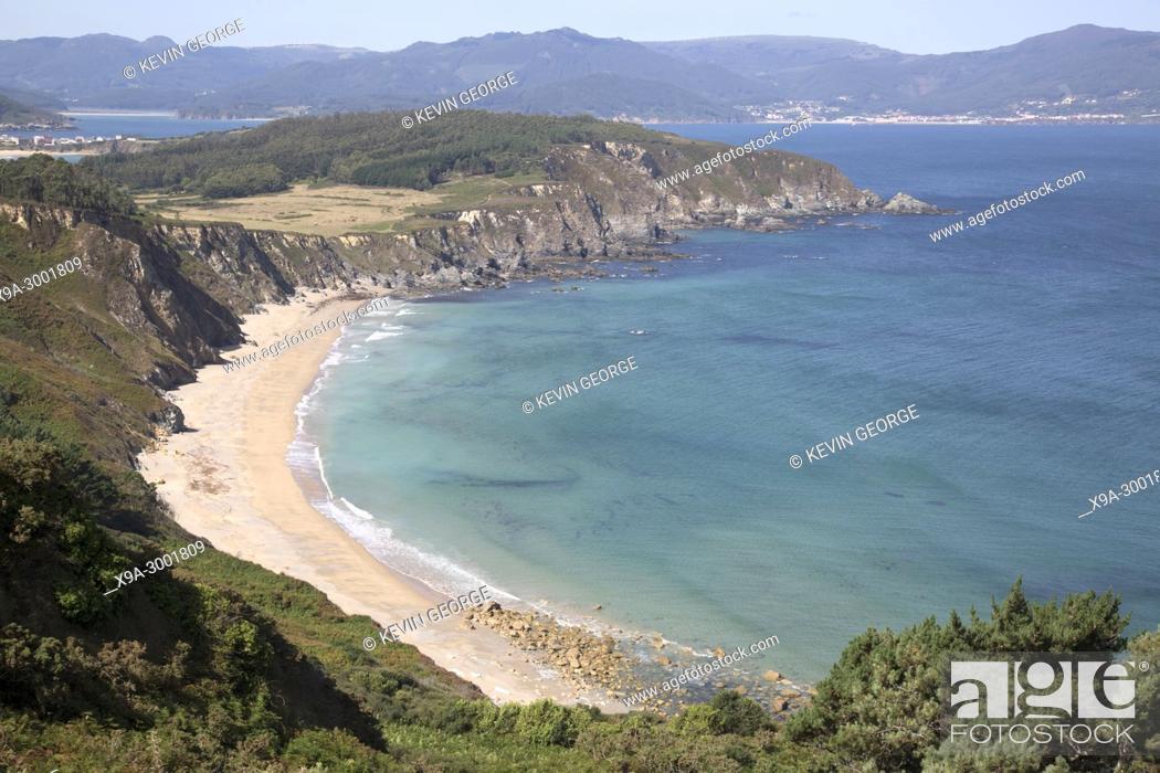 Stock Photo: Sarridal Beach; Espasante; Galicia; Spain.