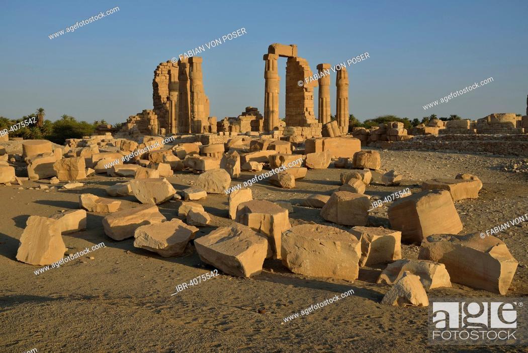 Stock Photo: Temple of Amun, Soleb, Northern state, Nubia, Sudan.