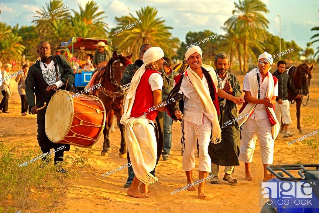 Stock Photo: Traditional Wedding at Al Kantara, Island of Djerba, Tunisia.