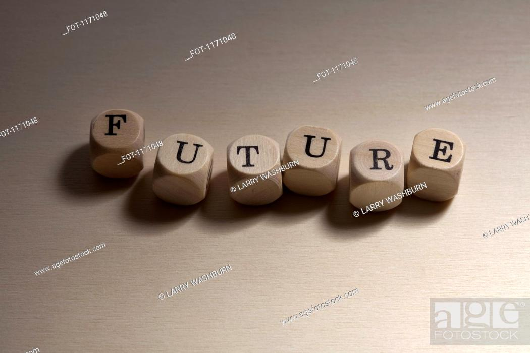 Stock Photo: Lettered cubes spelling the word Future.