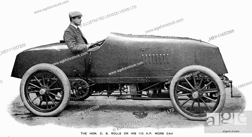 Stock Photo: Charles Stewart Rolls (1877-1910) British engineer and aviator in 1906. Henry Royce built his first motor car in 1904 and in May of that year met Charles Rolls.