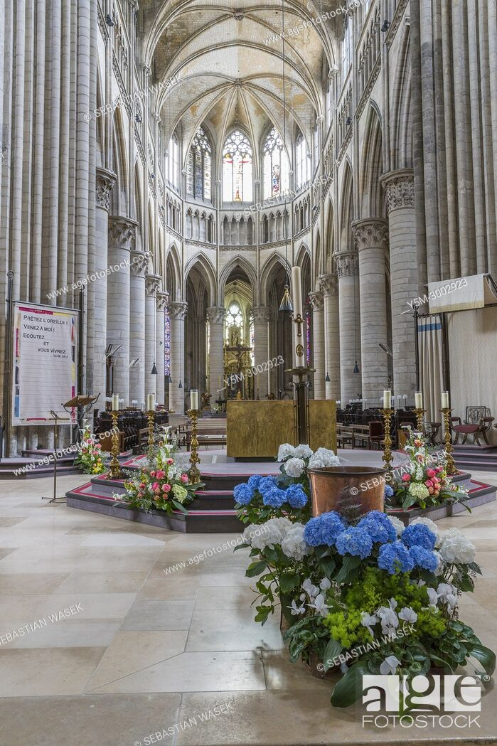 Stock Photo: Rouen Cathedral, Seine-Maritime, Normandie, France, Europe.