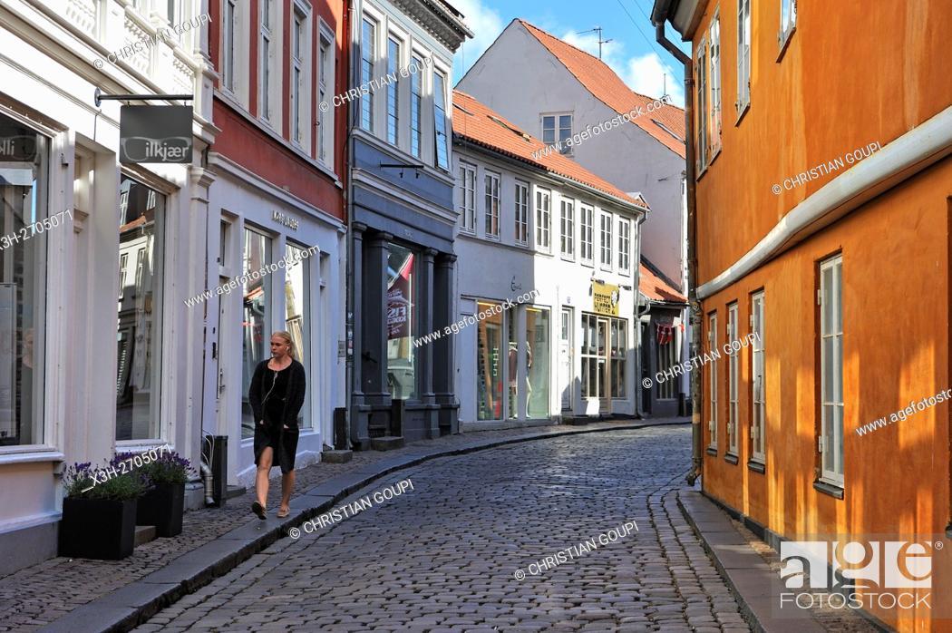 Stock Photo: Volden street, Aarhus, Jutland Peninsula, Denmark, Northern Europe.