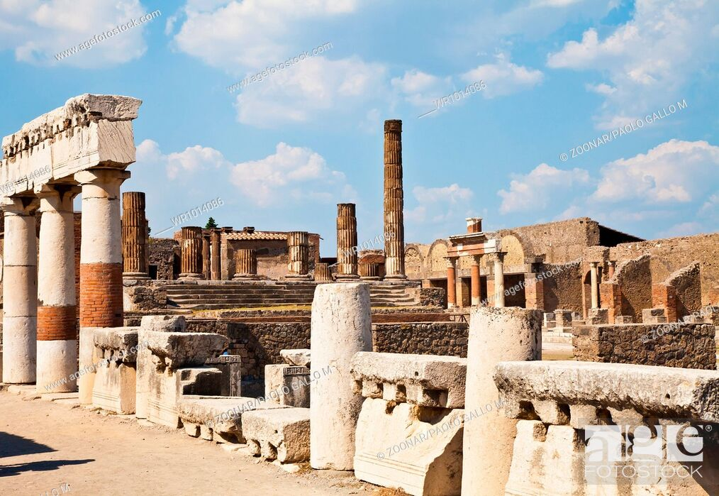 Stock Photo: Pompeii - archaeological site.