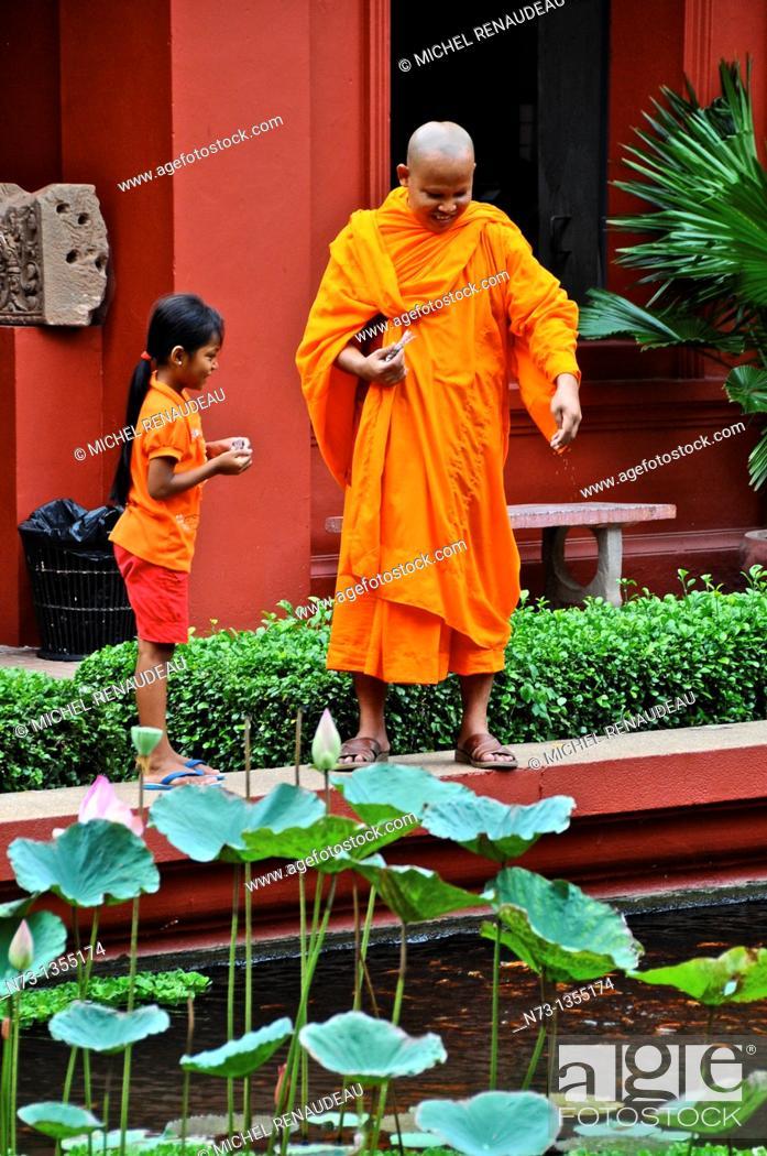 Stock Photo: Cambodia, Phnom Penh, National Museum of Fine Arts.
