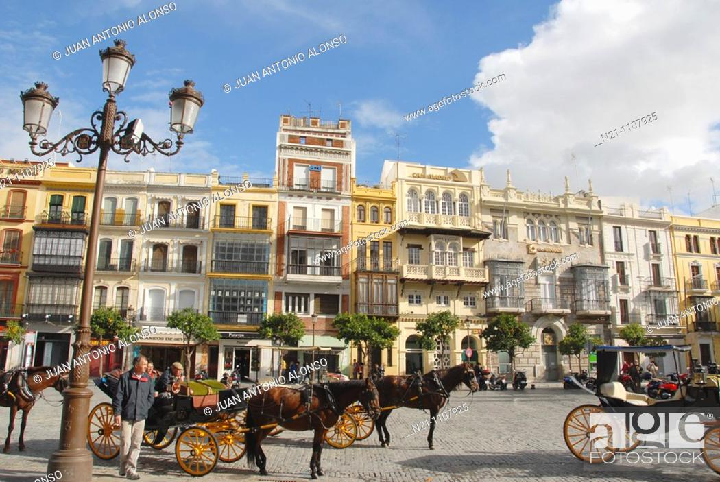 Stock Photo: Plaza San Francisco. It was already the heart of the city in the 16th century. It was the square where the executions ordered by the Inquisition used to take.