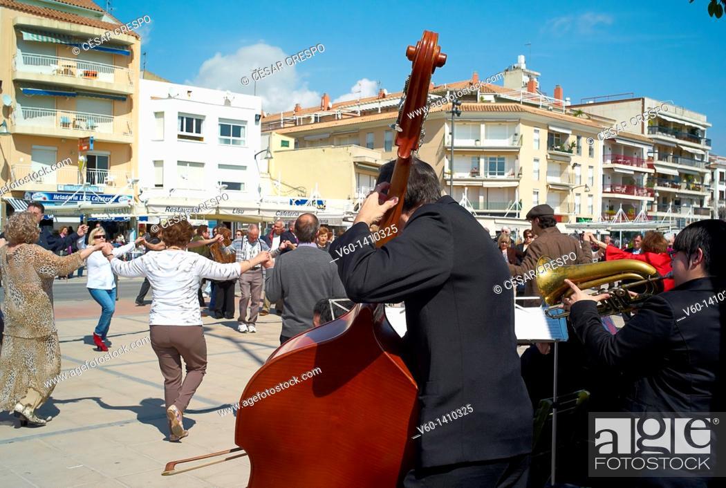 Stock Photo: -Sardanas Dance- Catalonia, Spain.