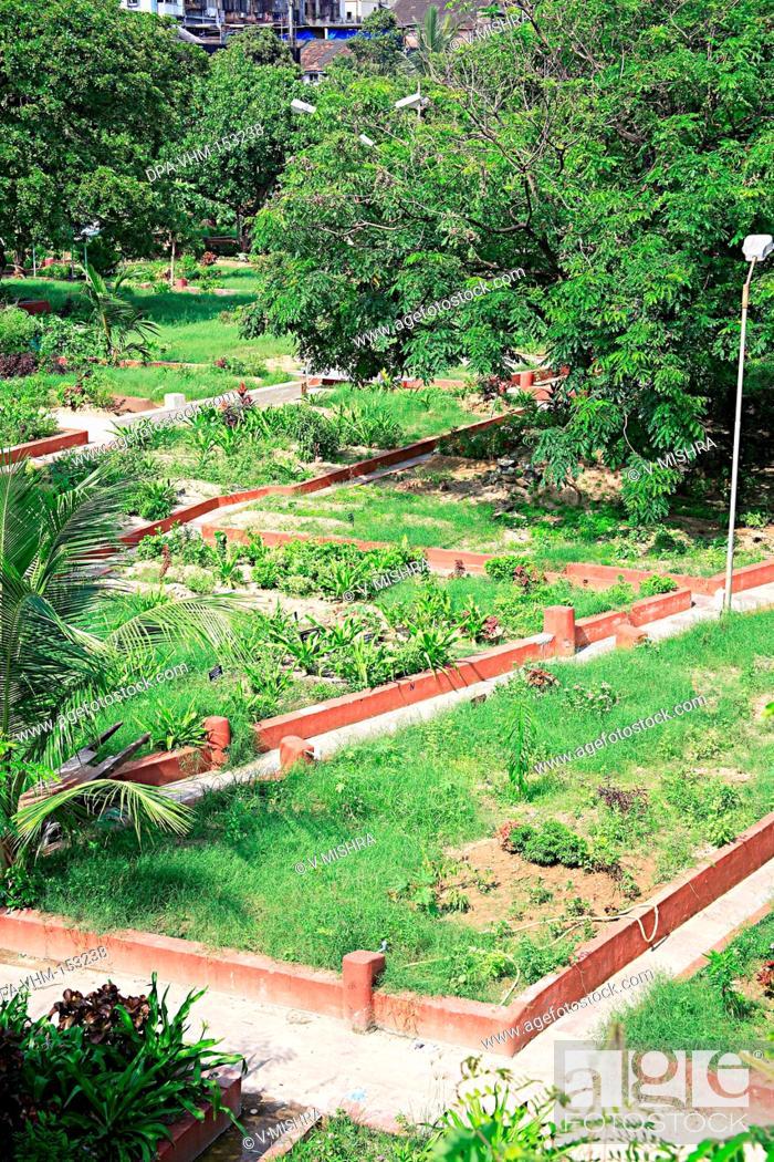 Stock Photo: Bada Kabristan Muslims burial ground graveyard ; Chandanwadi  Maharshi Karve road ; Marine