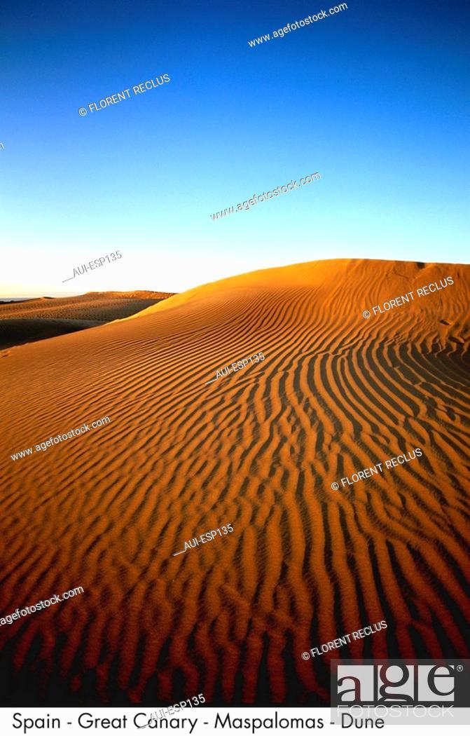 Stock Photo: Spain - Great Canary - Maspalomas - Dune Spain.