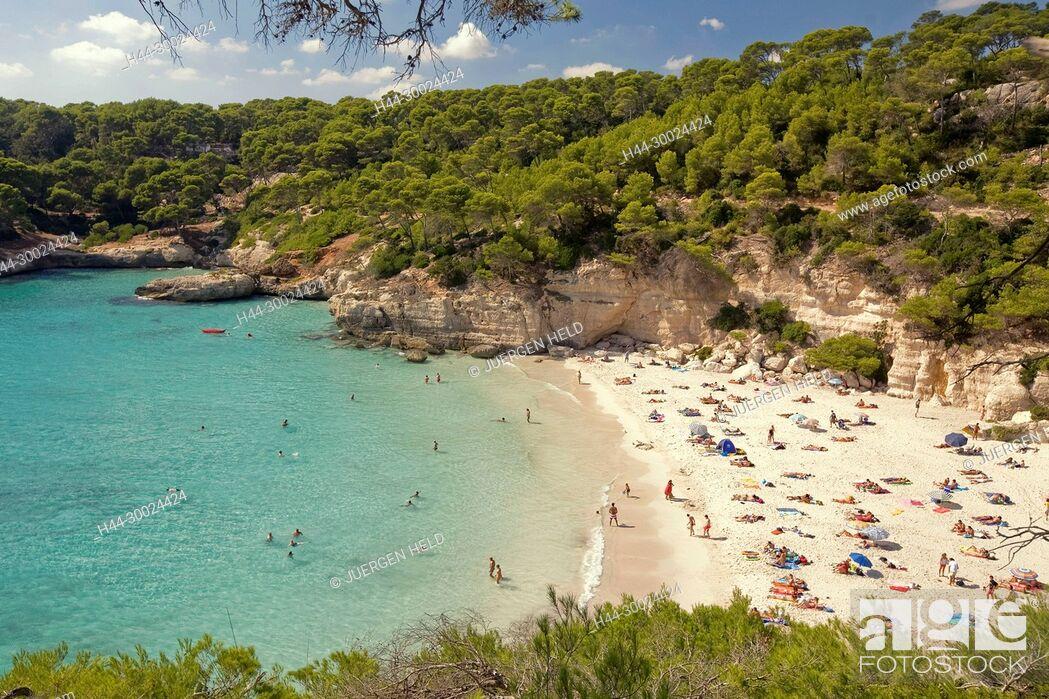 Stock Photo: Menorca Cala Mitjana beach.