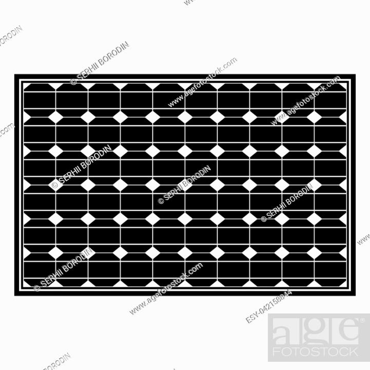 Vector: Solar panel it is the black color icon .