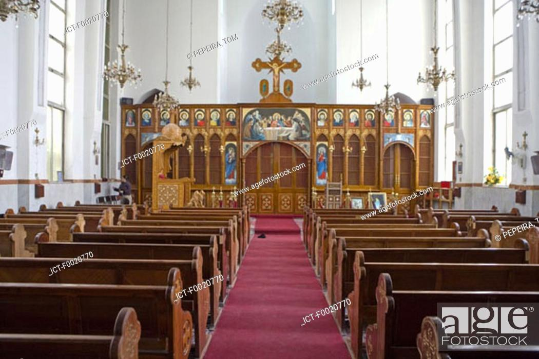 Stock Photo: Jordan, Amman, Melkite orthodox church.