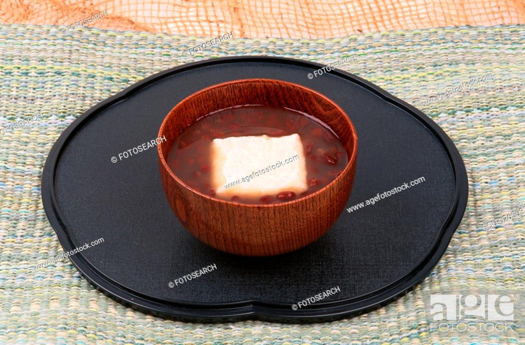 Stock Photo: Bowl Of Zoni With Red Beans.