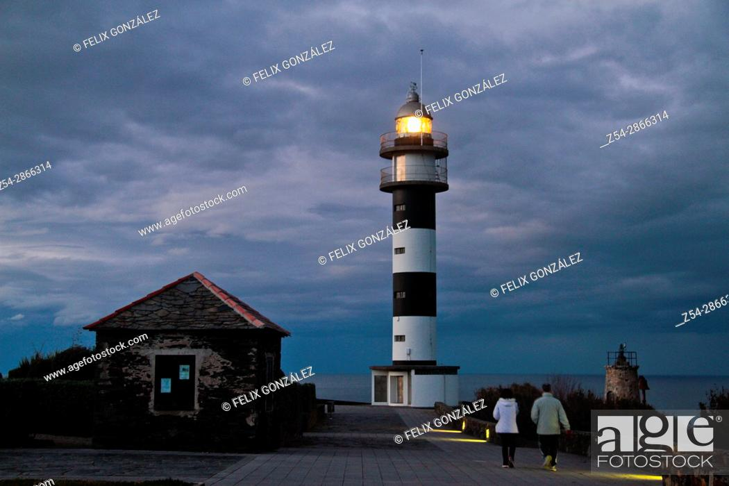 Stock Photo: Lighthouse Cabo de San Agustin, Ortiguera Asturias, Spain.