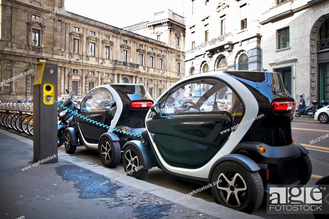 Stock Photo: Italy, Milan, Car sharing.