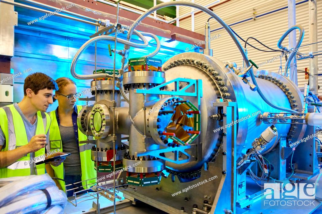 Stock Photo: NEXT (Neutrino Experiment with a Xenon TPC) is a neutrinoless double-beta decay experiment that operates at the Canfranc Underground Laboratory (LSC).