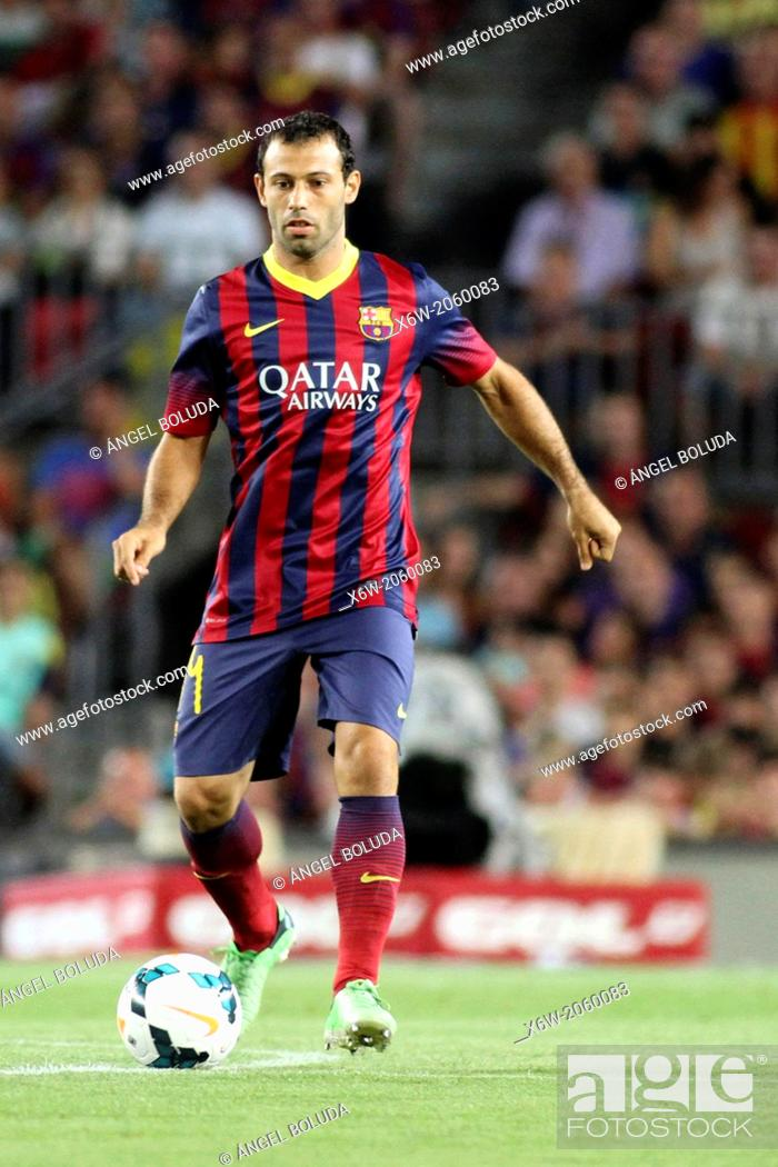 Stock Photo: FC Barcelona. Mascherano in action.
