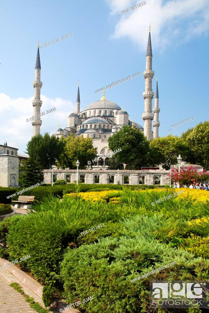Stock Photo: Eyüp Sultan Mosque from park.