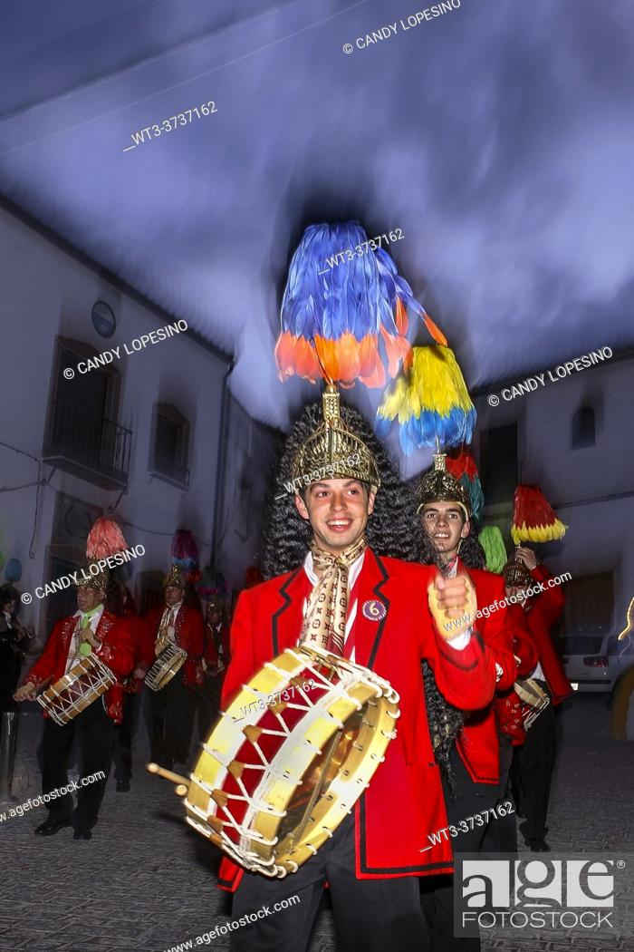 Stock Photo: Colinegros, black tailed jews holy week procession, BAENA, CORDOBA province, ANDALUSIA, SPAIN, EUROPE.
