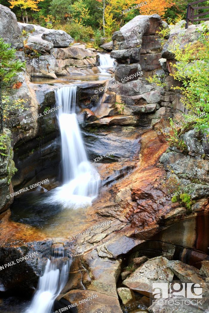 Stock Photo: Grafton Notch State Park - Screw Auger Falls during the autumn months in Newry, Maine USA.