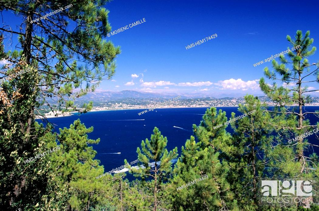 Stock Photo: France, Alpes Maritimes, Golfe de la Napoule, with Cannes in the background.