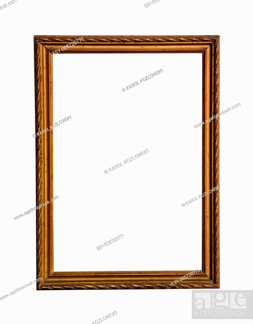 Stock Photo: Empty wooden frame with white copy space.