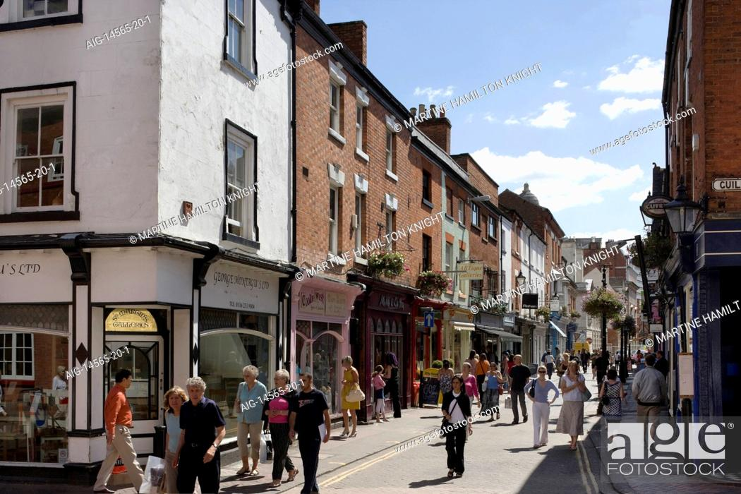 Stock Photo: Silver Walk, known as 'The Lanes' in Leicester, England, UK,.