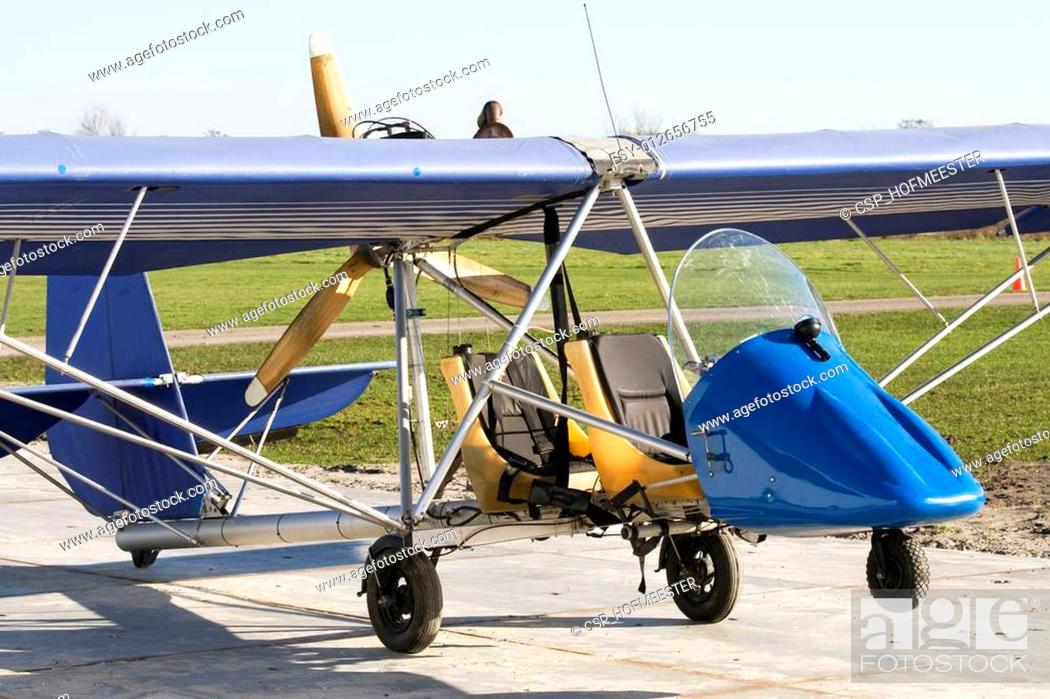 Stock Photo: Antique ultra light plane.