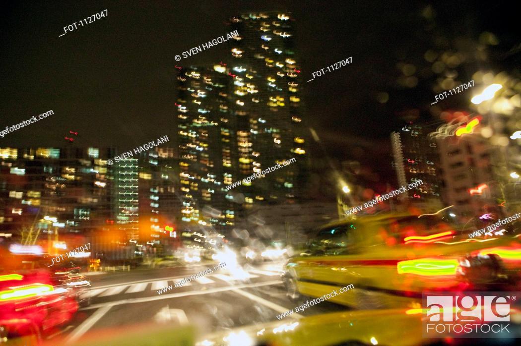 Stock Photo: Tokyo city traffic.