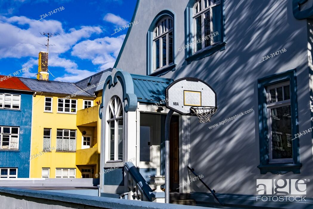 Stock Photo: Modern house in Reykjavic, Iceland.