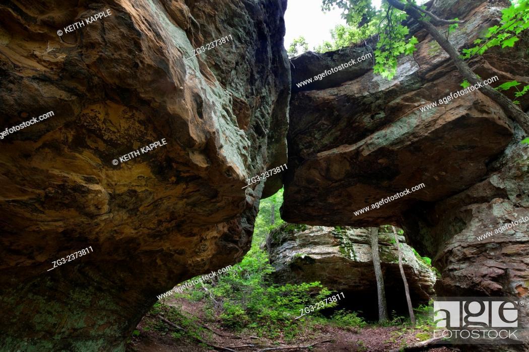 Stock Photo: Ozark Mountains, Pedestal Rock Scenic Area, Arkansas.