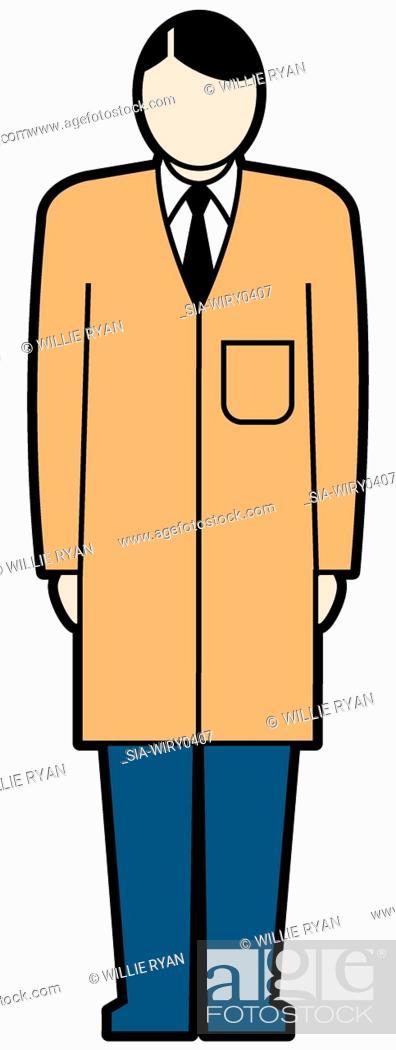 Imagen: Man wearing long coat.