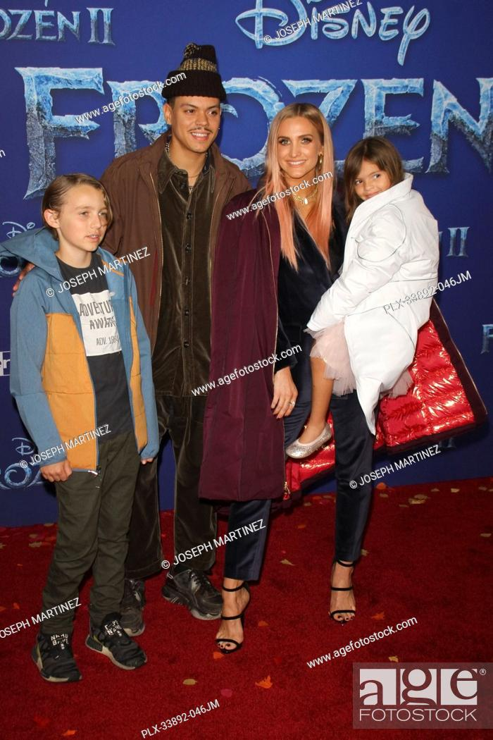 """Stock Photo: Bronx Wentz, Evan Ross, Ashlee Simpson, Jagger Snow Ross at Disney's """"""""Frozen II"""""""" World Premiere held at the Dolby Theatre in Hollywood, CA, November 7, 2019."""