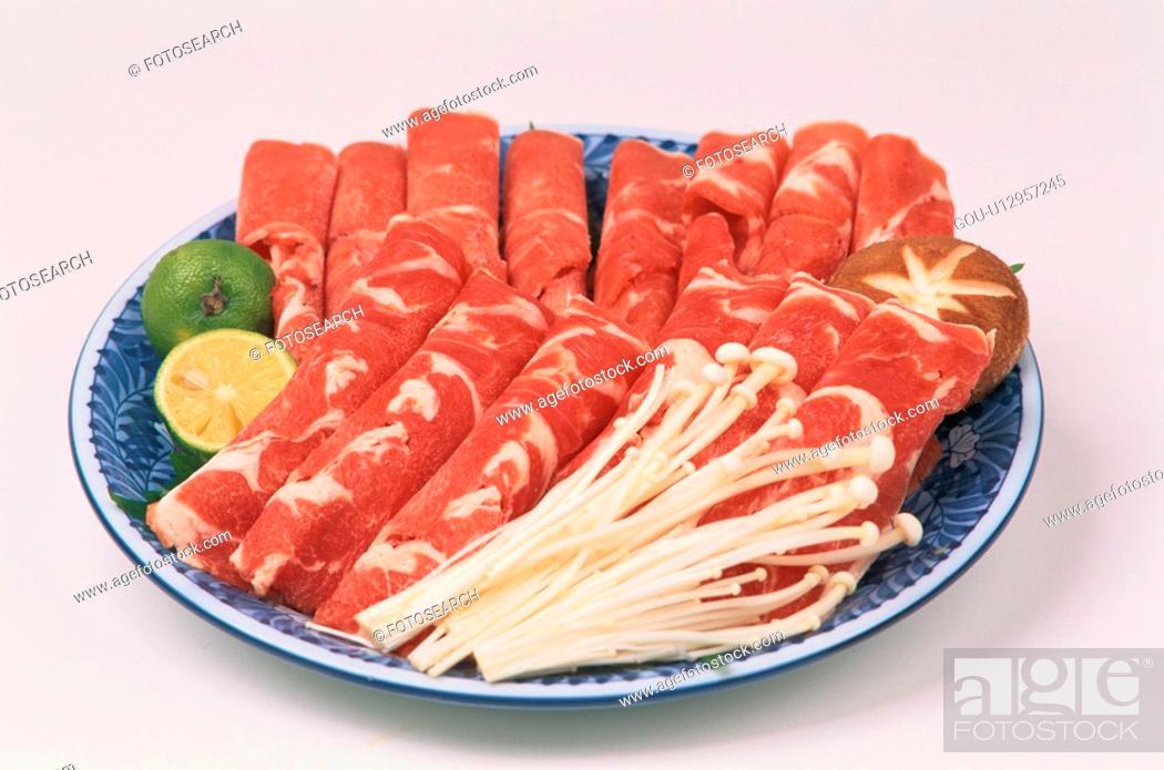 Stock Photo: Plate Of Shabu Shabu.